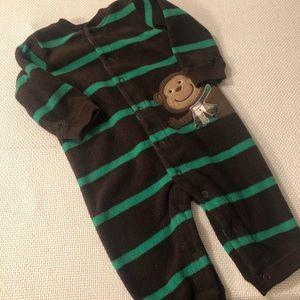 🆕 Carter's Fleece Monkey Pajamas